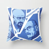 heisenberg Throw Pillows featuring Heisenberg by El LoCo
