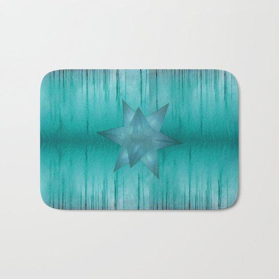 Crystal frozen star forest Bath Mat