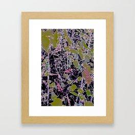 Berries, Leaves Infused Framed Art Print