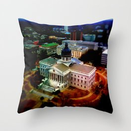 Tilt-Shift SC Statehouse Throw Pillow