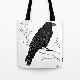 Inky Crow Tote Bag
