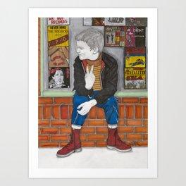 Little Skinhead Art Print