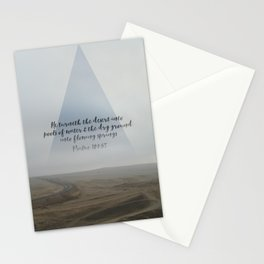 Desert and Dry Ground (Psalm 107:35) Stationery Cards