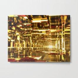 Golden Tunnels Metal Print