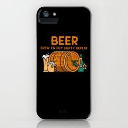 Beer Brew Enjoy Empty Repeat iPhone Case