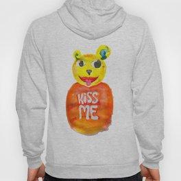 kiss me bear Hoody