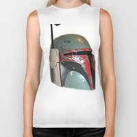 boba Biker Tanks featuring Boba Fett by McKenzie Nickolas