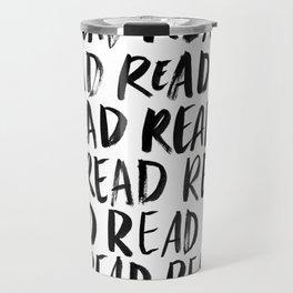 Read, Read, Read (White) Travel Mug
