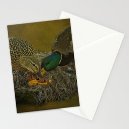 Mallards Having A Meal Stationery Cards