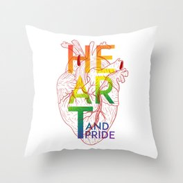 Heart & Pride Throw Pillow