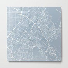 Irvine Map, USA - Slate Metal Print