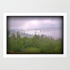 Astoria Fog Art Print
