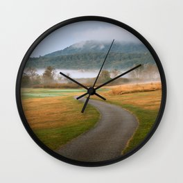 Misty Dawn Golf Course Wall Clock