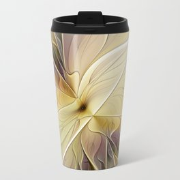 Floral Beauty, Abstract Fractal Art Flower Travel Mug