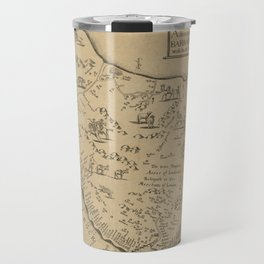 Map of Barbados 1673 Travel Mug