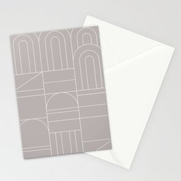 Deco Geometric 04 Grey Stationery Cards