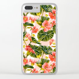 Flowering garden nasturtiums Clear iPhone Case