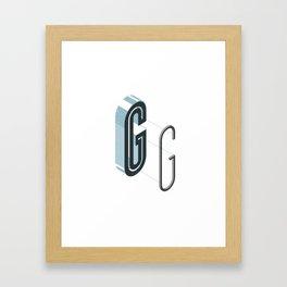 The Exploded Alphabet / G Framed Art Print