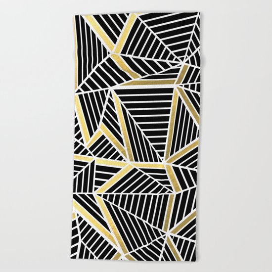 Ab Lines 2 Gold Beach Towel