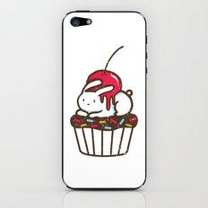 Chubby Bunny on a cupcake iPhone & iPod Skin