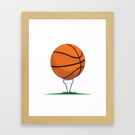 Basketball Tee Framed Art Print