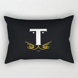 T for Tiger  Rectangular Pillow