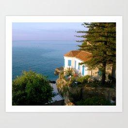 Amalfi Coast Villa Art Print