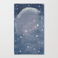 outer space Canvas Prints featuring Outer Space  by Amanda Powzukiewicz
