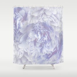 Flower Bouquet In Pastel Blue Color - #society6 #buyart Shower Curtain
