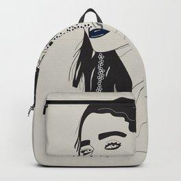 Rihanna blue Backpack