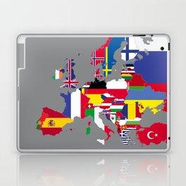 Europe flags grey Laptop & iPad Skin