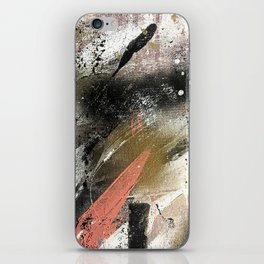 lighning [2]: a colorful abstract piece in black, white, gold, and pink iPhone Skin