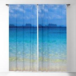 Serene and peaceful ocean Blackout Curtain