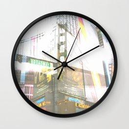 SF to NY Wall Clock