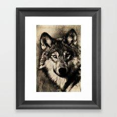 The Gray Framed Art Print