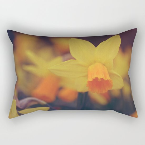 Yellow Narcissus #2 Rectangular Pillow