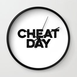 Cheat Day Wall Clock