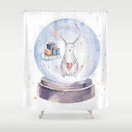 Christmas bunny #3 Shower Curtain
