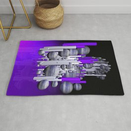 deco violet-white-black -1- Rug