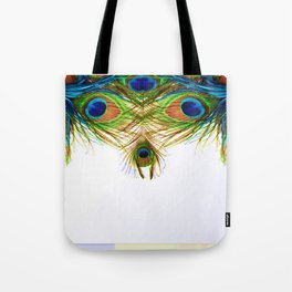 GORGEOUS BLUE-GREEN PEACOCK FEATHERS ART Tote Bag