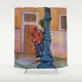 Singing in the rain, the early years Shower Curtain