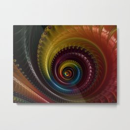 Jewel Silk Spiral Metal Print
