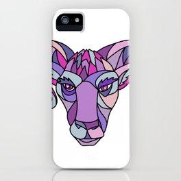 Bighorn Sheep Ram Mosaic Color iPhone Case