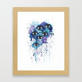 Space Eyes Framed Art Print