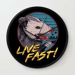 Live Fast! Wall Clock