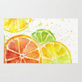 Fruit Watercolor Citrus Rug