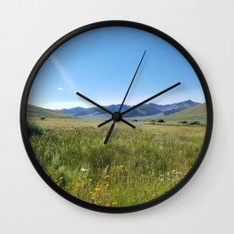 Cabin Creek Meadow Wall Clock