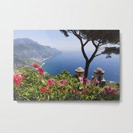 Scenic Vista of the Amalfi Coast at Ravello Metal Print