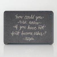 nietzsche iPad Cases featuring Nietzsche on Rising Anew by Josh LaFayette