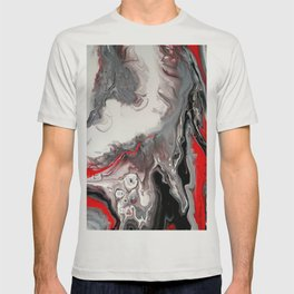 No Dice - Black, Silver and Red Abstract T-shirt
